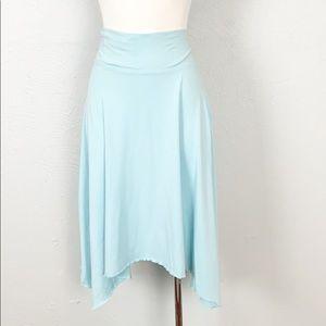 Athleta Aqua Handkerchief Hem Midi Skirt Large